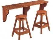 Barový stůl se židlemi